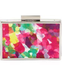 Sondra Roberts Watercolorprint Frame Clutch Bag Fuchsia - Lyst