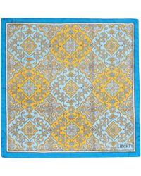 Liberty - Yellow Chatsworth Silk Pocket Square - Lyst