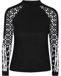 Peter Pilotto | Paneled Printed Swim Top | Lyst