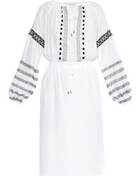 Altuzarra Arabella Embroidered Silk Dress white - Lyst