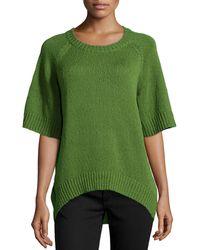 Michael Kors Rib-trim Boucle Sweater - Lyst