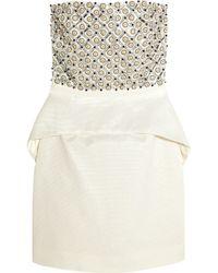 Sass & Bide - Around The Corner Embellished Satin-jacquard Mini Dress - Lyst