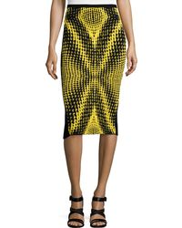 Risto - Printed-front Pencil Skirt - Lyst
