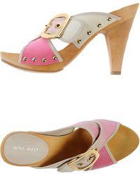 Nine West Mules pink - Lyst