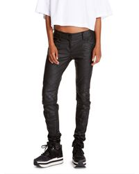 DKNY Carad4 Luxe Moto Pant - Lyst