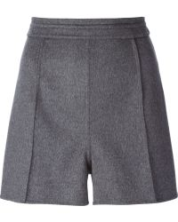 Valentino Gray Tailored Shorts - Lyst