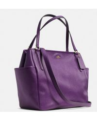 Coach Baby Bag Tote in Embossed Textured Leather - Lyst