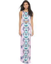 Mara Hoffman Cutout Column Dress - Maristar Lilac - Lyst