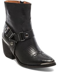 Jeffrey Campbell Black Rockwell Bootie - Lyst