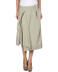 Acne Studios 3/4 Length Skirt green - Lyst