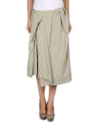 Acne Studios 34 Length Skirt - Lyst