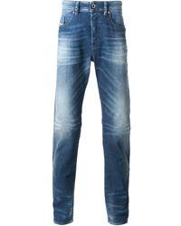 Diesel Blue Faded Jeans - Lyst