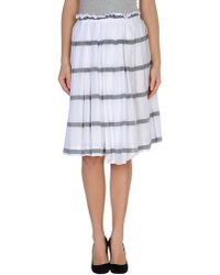 Metradamo Knee Length Skirt - Lyst