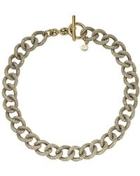 Michael Kors Gold-tone and Glitz Curb Link Necklace - Lyst