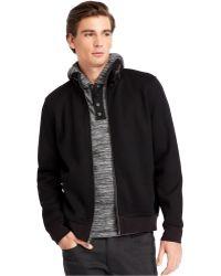 Kenneth Cole New York Full Zip Mock Neck Jacket - Lyst