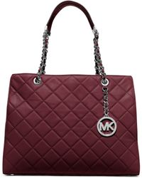 Michael Kors | Susannah Large Quilted-leather Tote | Lyst