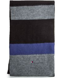 Tommy Hilfiger Brushed Colorblocked Scarf - Lyst