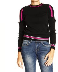 Emilio Pucci Sweater Crewneck with Shoulders Details - Lyst