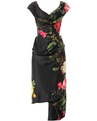 Vivienne Westwood Gold Label Mini Cocotte Floralprint Satin Dress - Lyst