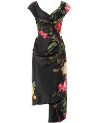 Vivienne Westwood Gold Label Mini Cocotte Floral-Print Satin Dress floral - Lyst