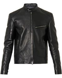 Gucci Leather And Wool Jacket - Lyst