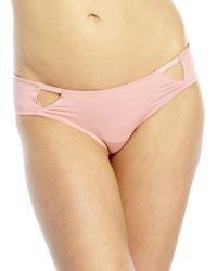 Catherine Malandrino Blush Micro Hipster Panty pink - Lyst