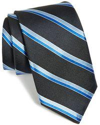 Michael Kors Stripe Silk Tie gray - Lyst