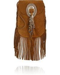 Saint Laurent - Anita Fringed Suede Shoulder Bag - Lyst