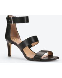 Ann Taylor Katie Leather Sandals black - Lyst