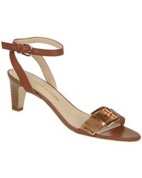 Franco Sarto Tarry Two-Tone Leather Buckle Sandals - Lyst