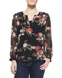 Joie Maurelle Floral-print Silk Blouse - Lyst