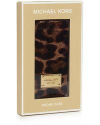 MICHAEL Michael Kors Leopard Print Iphone 5/5S Case - Lyst