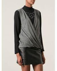 Vanessa Bruno Wrap Style Blouse - Lyst