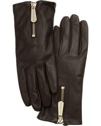 Michael Kors | Michael Leather With Zipper Gloves | Lyst