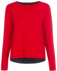 Paul Smith Women'S Red And Grey Reversible Wool-Blend Sweater red - Lyst