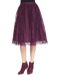 Alice + Olivia Alice  Olivia Perkins Full Lace Skirt  - Lyst