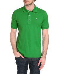 Lacoste Slim Fit Apple Green Mc Polo - Lyst