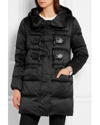 Burberry Brit - Leather-trimmed Quilted Shell Down Duffle Coat - Lyst