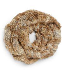 Josie Natori - Rabbit Fur Neck Warmer - Lyst