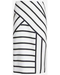O'2nd Asymmetric Stripe Pencil Skirt - Lyst