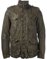 Neil Barrett Distressed Leather Jacket - Lyst
