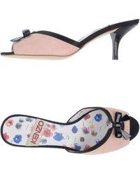Kenzo Pink Highheeled Sandals - Lyst