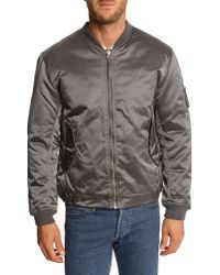 Our Legacy Taupe Nylon Bomber Jacket - Lyst