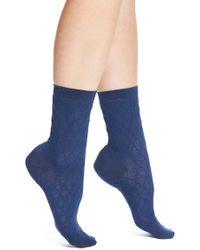 Elie Tahari - Ruched Diamond Texture Trouser Socks - Lyst