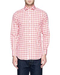 Tomorrowland Contrast Gingham Check Cotton Shirt - Lyst