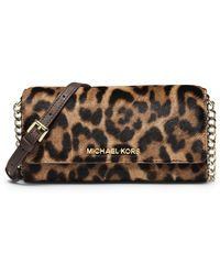 MICHAEL Michael Kors Jet Set Hair Calf Travel Wallet - Lyst