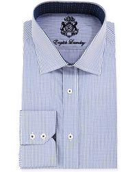 English Laundry Mini Gingham Check Woven Dress Shirt - Lyst