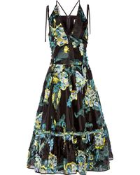Erdem Glenna Fil Coupé Midi Dress - Lyst