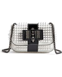 Christian Louboutin 'Sweet Charity' Spiked Calfskin Shoulder Bag - Lyst