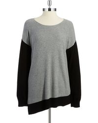 Two By Vince Camuto Gray Colorblock Top - Lyst